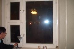 Пластиковые откосы на деревянных окнах
