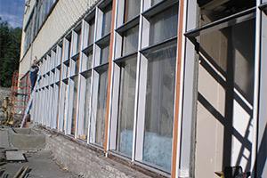 Покраска фасадов, мойка фасадных окон