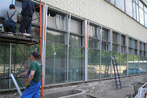 Ремонт фасадных окон