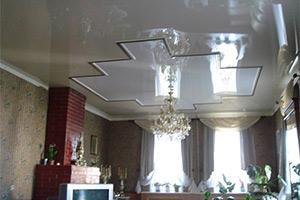 Установка многоуровневых натяжных потолков
